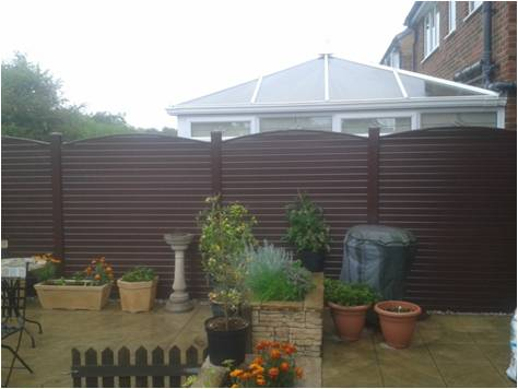 uPVC Fencing Bespoke Fence in Brown