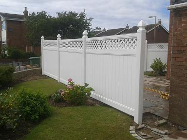 uPVC Fencing Bespoke Fence in White